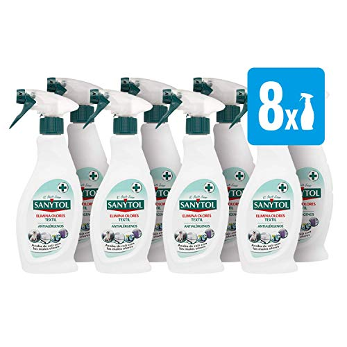 Sanytol - Spray Elimina Olores - 8 envases de 500 ml