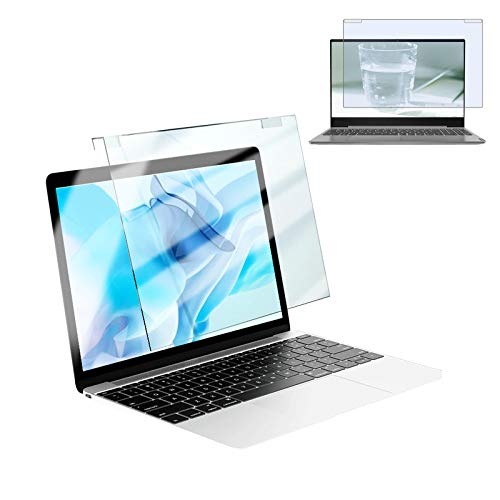 YJJT Hanging Computer Screen Anti Blue Ray Film - Notebook Anti Glare Screen Filter - Reduces Eye Strain Screen Protector, For 12Inches 15 Inches Screen, Eye Protection HD, No Bubbles, Firm, Washable