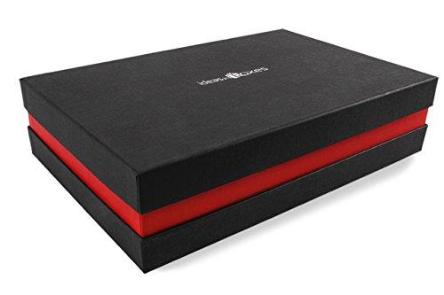 ideas in boxes Premium-Geschenkbox - Geschenkverpackung Made in Germany (Schwarz, Rot, Schwarz) 41x9x31 cm