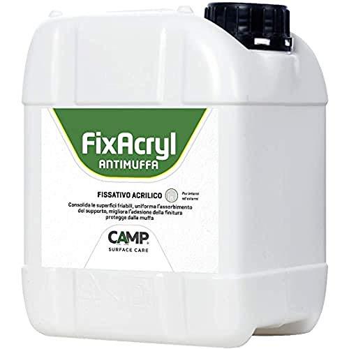 Camp FIXACRYL ANTIMUFFA, Fissativo 100% acrilico isolante anti-muffa, Previene la formazione della muffa, Per muri interni ed esterni, A base acqua