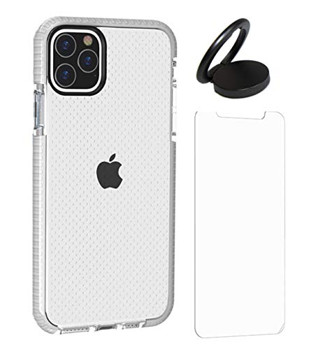 Case-Kits Apple iPhone 11 - White Phone Case Starter Kit with Two Screen Shield Protectors and Rotating Ring/Stand (White (Kit), iPhone 11)