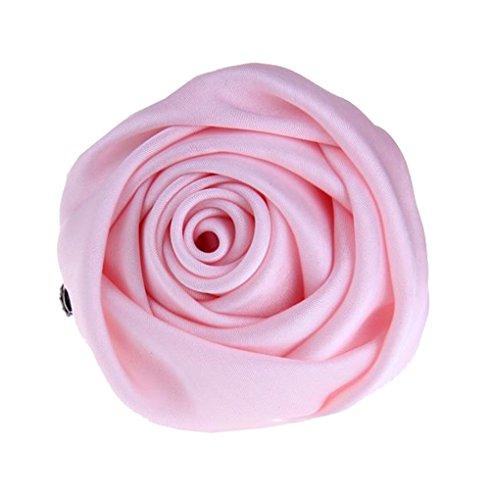 Cheerlife Rose Ansteckblume, Haarblume Haarschmuck Haarblüte Haarclip Haarklipp Blumen Brosche Blumen Kopfschmuck Bekleidung Zubehör Pink