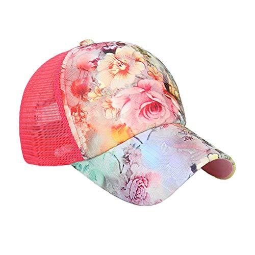 TENDYCOCO Damen Herren Baseballmütze Blumen Hip Hop Kappe für Jungen Mädchen