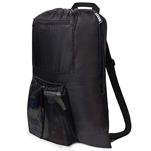 Extra Large Laundry Backpack with Underwear Mesh Bag (Black)