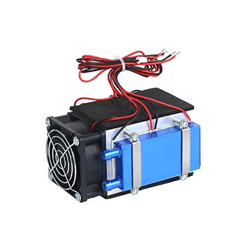 kühler Kecheer TEC Electron Semiconductor Kältekühler Tragbare Klimaanlage DIY Kühler Kühlmodul Kit Thermoelektrisches Peltier Kühlsystem Kit 4 Chips Thermoelektrischer Kühler