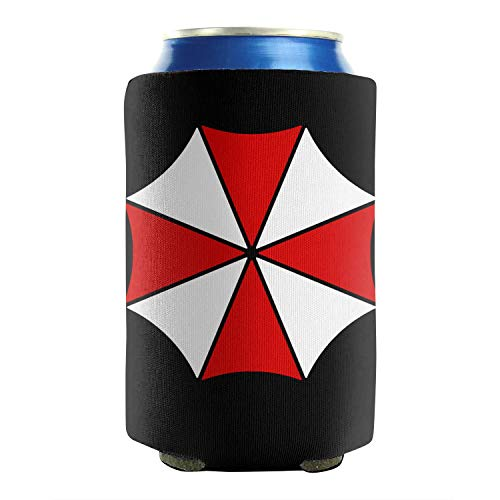 Beer Can Sleeve Covers Resident Umbrella Evil Corp Symbol  Drink Can Cooler Sleeves Insulated Soft Neoprene Collapsible for Beverage Coke Funny Party Favors Gift 2 Pieces