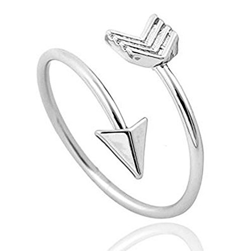 Silver Arrow Ring, Inspirational Ring, Promise Ring, Graduation Ring, Friendship Ring, Travel Ring, Toe Ring - Adjustable