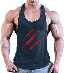 Camiseta de Tirantes Deporte Hombre, Camisetas Tops sin Mangas Basica Fitness Gym Camiseta Deportiva t-Shirt