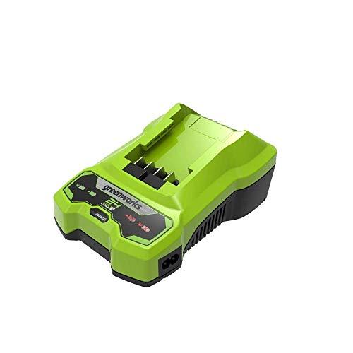 Greenworks Tools Cargador de iones de litio de 24 V, salida de 48 W, adecuado para todas las baterías de la serie Greenworks de 24 V.