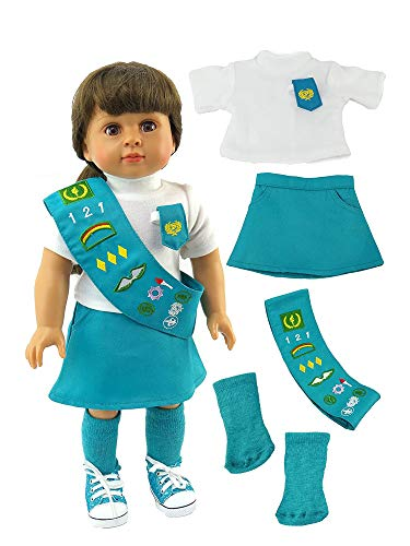 American Fashion World Junior Girl Scout Uniform made to fit 18 inch dolls such as American Girl Dolls