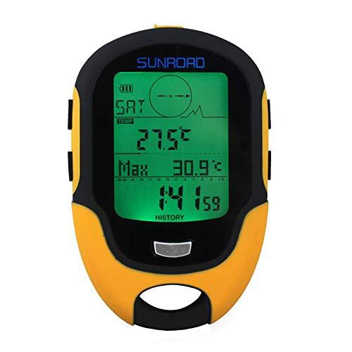 FOWYJ Brújula multifunción a Prueba de Agua, LCD portátil altímetro Digital Barómetro...