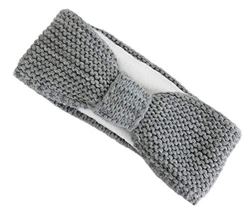 irisaa hoofdband dames hoofdband oorbescherming grof gebreid met fleece binnenvoering, hoofdband SB0119