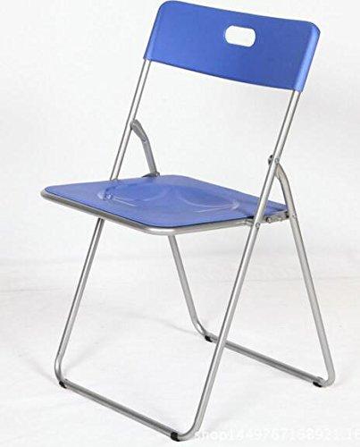 Easy azul Silla plegable metal asiento PP,para cocina, comedor, balcón, terraza interior, habitaci�