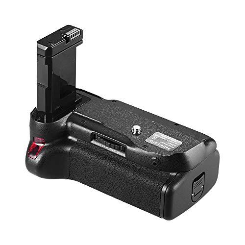 Godyluck- Soporte Vertical de empuñadura de la batería Compatible con la cámara réflex Digital Nikon D5500 D5600 EN-EL 14 Alimentado por batería con Control Remoto IR