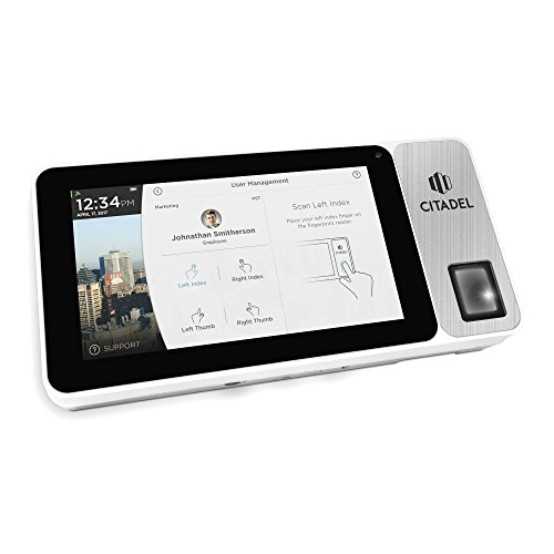 Citadel Cloud-Based Touchscreen Time Clock with Biometric Finger Scan, RFID, & PIN Punching Capability (OB2000)