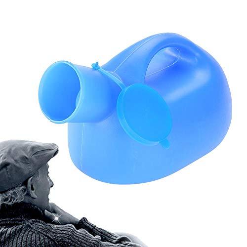 TMISHION Botella de orina a Prueba de Fugas, 2000 ml Botella de orina para medir al Aire Libre portátil con Tapa Pee Hombre Orinal Colector de orina para Hombres, niños o autobuses de Larga Distancia ⭐