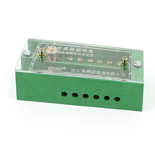 X-DREE FJ6/JHD-1/d Single Phase 6 Electricity Meter Power Cable Distribution Block(FJ6 / JHD-1 / d Monofase 6 Unità di distribuzione del cavo di alimentazione contatore elettrico