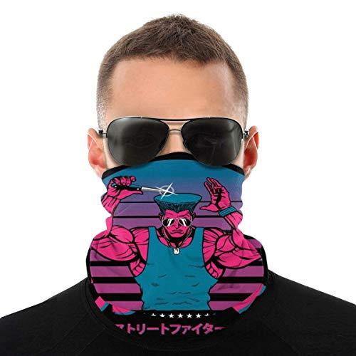 Auld-Shop Street Fighter Guile Fight mit Style Variety Kopftuch Gesichtsschutz Magic Headwear Neck Gaiter Face Fahrrad Bandana Schal