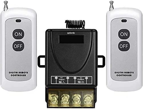 QOFOWIN Wireless Remote Switch AC110V for RF Popular product 240V Ho Choice 120V