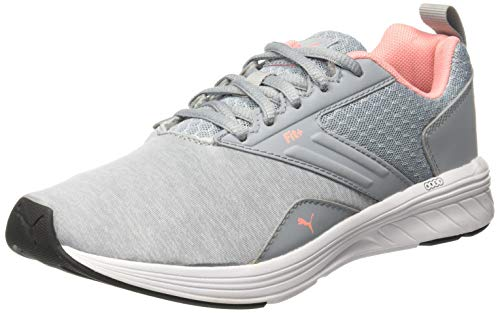 PUMA Nrgy Comet, Zapatillas de Cross Unisex Adulto, Gris (Quarry-Soft Fluo Peach), 38 EU