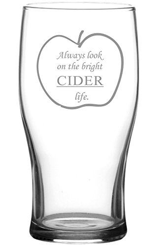 Always look on the bright cider life Tulip Cider Glass