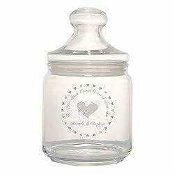 4you Design Bonbonglas/Keksglas Für die süßen Momente im Leben von … - personalisiert mit 1-2 Namen - süße Geschenkidee Geburtstagsgeschenk - originell - individuell