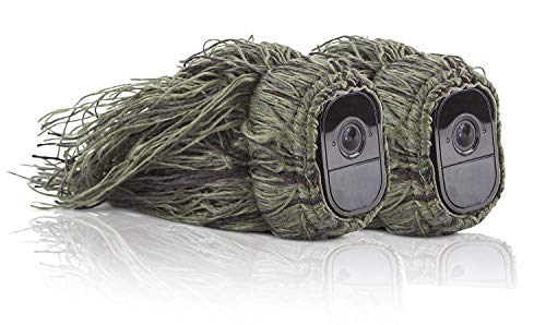 Wasserstein Ghillie Skin Compatible with Arlo Pro & Arlo Pro 2 Smart Security - 100% Wire-Free Cameras (2 Pack)