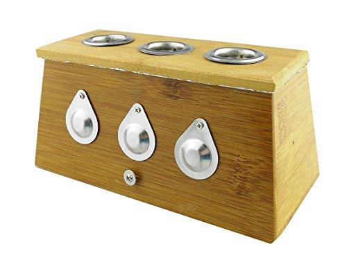 Winterworm® Bambus Heilbox für medizinische Moxa Moxibustions-Therapie, Three Hole-