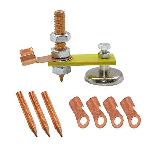 WJUAN Schweißmagnetkopf Schweißzubehör Werkzeug Magnetische Erdungsklemme für Schweiß Support Zubehör Werkzeug