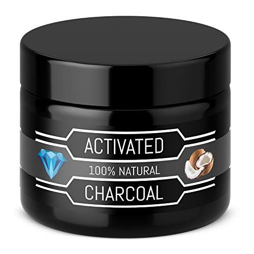 Charbon actif premium 30g – Poudre 100% biologique – Sans ajout chimique – Rafraichit l'haleine – Poudre de charbon actif vegan – Pour blanchir et éclaircir les dents – Charbon actif