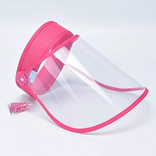DishyKooker Anti-Tröpfchen-Leerer Zylinderschutz-Gesichtsschutz Proof Anti-Spitting-Abdeckkappe Rose Rot