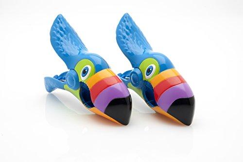 Boca Clips Strandtuchklammern, Papageienform