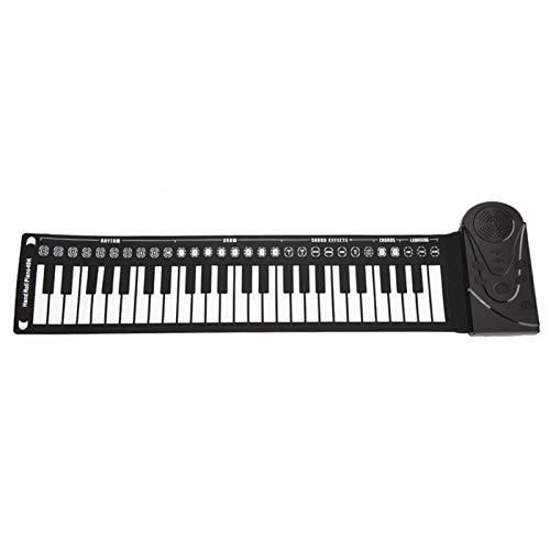 Tongdejing Pianoforte Roll-up a 49 Tasti, Tastiera elettrica Pieghevole Portatile Tastiera Pieghevole Flessibile per Principianti e Bambini