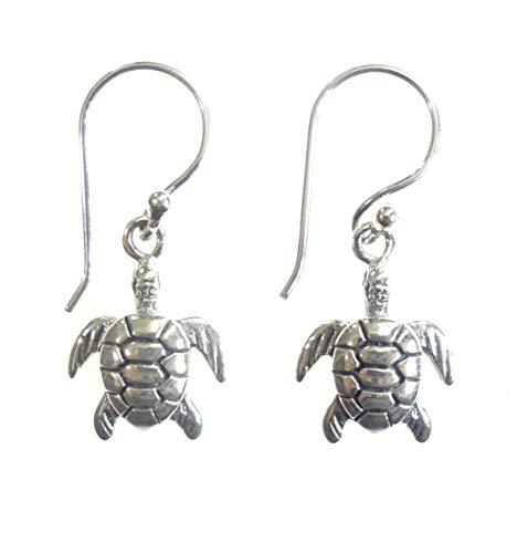925 ley plata tortuga grabado gota cuelga aretes para mujeres, hechos a mano auténticas étnicas tribales boho moda joyas fiesta diseñador, regalo aretes joyas por artesanos