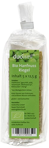 duówell Hanfnuss Riegel Bio Der gesunde Superfood-Snack, 2er Pack (2 x 63 g)