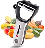 Mueller 4 in 1 Swift Julienne Vegetable Peeler - Citrus Fruit Peeler for Orange Lemon Cocktails -...