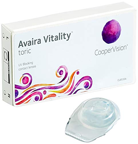 Cooper Vision Avaira Toric Monatslinsen weich, 3 Stück/BC 8.5 mm/DIA 14.5 mm/CYL -1.75 / ACHSE 20 / -0.25 Dioptrien