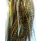 Lot de 7 plumes pour extensions de cheveux de qualité salon