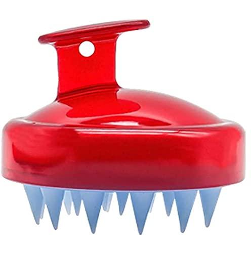Cepillo de masaje de silicona para el cuero cabelludo, para exfoliar y masajear la cabeza, peine de silicona, cuidado de raíces del pelo, peine seco en húmedo, cuidado de goma
