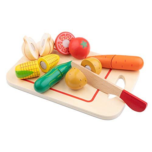 New Classic Toys - 10577 - Jeu D'imitation - Cuisine - Légumes À Découper - 8 Pièces