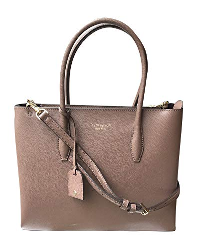 Kate Spade New York Eva Medium Zip Top Satchel Crossbody Shoulder Bag Handbag, Light Walnut