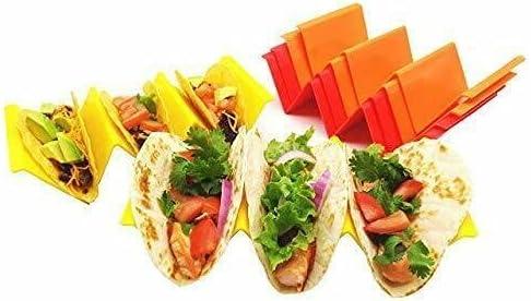 Colorful PP Plastic Taco Holders with Free Recipe Ideas, Premium