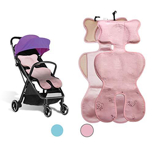 Sitzauflage sommer babyschale, kinderwagen einlage sommer, Sitzeinlage babyschale, Atmungsaktive universal sitzauflage, für babyschale autokindersitz schützt vor flecken (ice silk pink02)