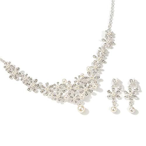 WGZ Nupcial Tiara Super Fairy Wedding Crown New Sen Departamento de Hadas Belleza Boda Accesorios for el Cabello Atmósfera Tres Piezas Accesorios (Color : SilverB)