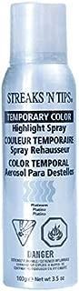 Streaks 'N Tips Platinum Temporary Spray-on Hair Color, 3.5 oz