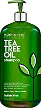 MAJESTIC PURE Tea Tree Shampoo for Men and Women -16 fl oz - Hydrating Formula Fights Dandruff, Lice and Itchy, Irritating or Dry Scalp - For All Hair Types - Sulfate Free