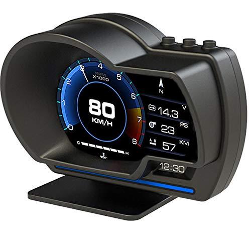 ヘッドアップディスプレイ HUD OBD2 GPS 両方同時対応 タコメーター 車載スピードメーター 疲労運転警告 警告機能搭載 故障診断 日本語説明書付き