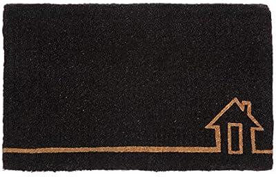 100% Coir Doormat | Entry Mat | Welcome Mat | 45x75 cm | Ghar Black