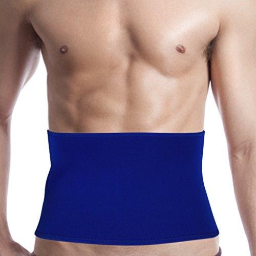 Men Women Neoprene Compression Waist Trimmer Belt Kidney Binder Lower Back Brace Lumbar Abdominal Support Breathable Sweat Slimming Band Strap Weight Loss Ab Wrap