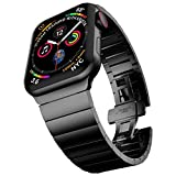 baozai Compatible with Apple Watch Band 44mm 42mm, Upgraded Stainless Steel Link Bracelet Band for iWatch Series 6/5/4/3/2/1/SE